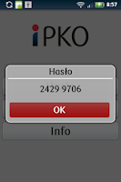 Screenshot of iPKO
