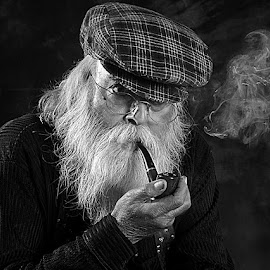 Uncle Sam #3 by Rakesh Syal - Black & White Portraits & People