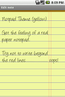 Screenshot of Notepad Theme