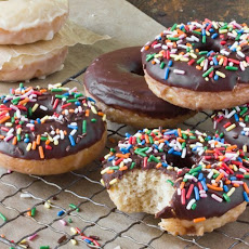 Baked Doughnuts with Vanilla and Chocolate Glaze