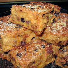 Traditional Fruity and Spiced Bread Pudding - With Brandy!
