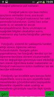 Screenshot of Fotoğraf Çekmenin Püf Noktalar