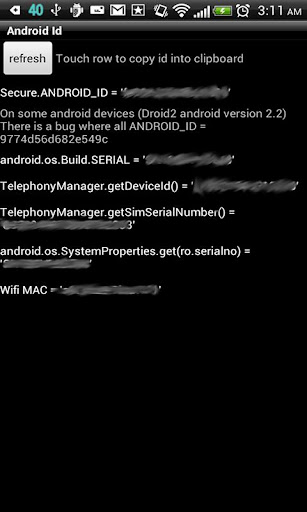 Id Info for Android