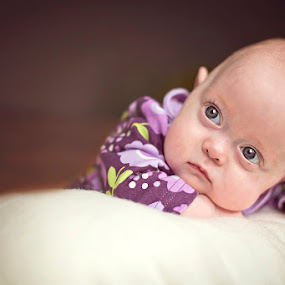 Sweet Miracle by Kristen VanDeventer Rice - Babies & Children Babies ( preemie baby eyes purple sweet miracle child )