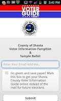 Screenshot of Shasta County Voter Guide