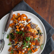 Roasted Sweet Potato Huevos Rancheros