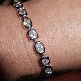 Crystal & Silver Bracelet by Darlene Pavek - Artistic Objects Jewelry ( bracelet, silver, crystal, object, artistic, jewelry )