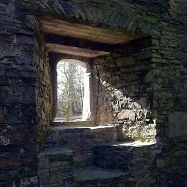 A Room With A View  by Julie Kendall - Novices Only Objects & Still Life ( building, kanturk castle, stone, historical )