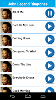 Screenshot of John Legend Ringtones & Sounds