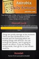 Screenshot of Astrobix Daily Fortune
