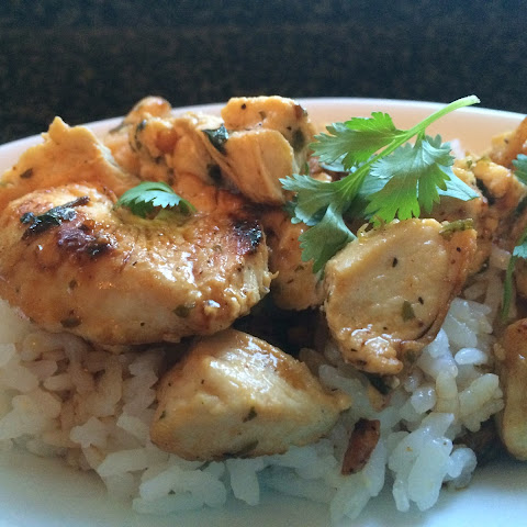 Cilantro Lime Chicken over Sticky Rice