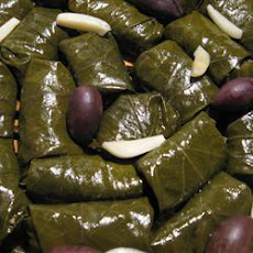 Middle Eastern-Style Lamb and Rice Stuffed Vine Leaves