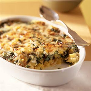 scalloped scalloped potatoes with hot spinach artichoke and potato ...