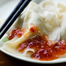 Pork Dumplings with Chili Sauce