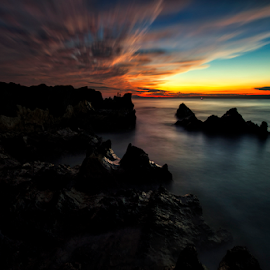 The Monster Sky by Nyoman Sundra - Landscapes Sunsets & Sunrises ( arasaki, japan, sky, sunset, kanagawa )