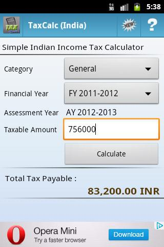 Tax Calculator India