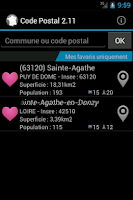 Screenshot of Codes Postaux