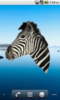 Screenshot of Zebra Head Sticker