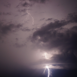 Bolt by Brian Box - Landscapes Weather ( stormy, lightning, arkansas photographer, thunderstorm, long exposure, storm )