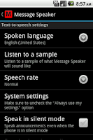 Screenshot of Message Speaker
