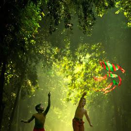 we kite by Rudy Eryanto - Babies & Children Children Candids