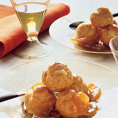 Golden Pear Cream Puffs