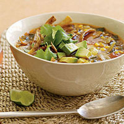Corn and Salsa Tortilla Soup