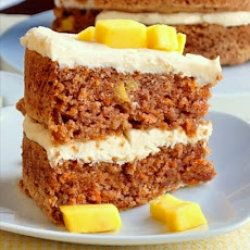 Mango Ginger Carrot Cake with Candied Ginger Cream Cheese Frosting