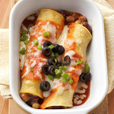 Three Bean Enchiladas