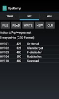 Screenshot of GpsDump