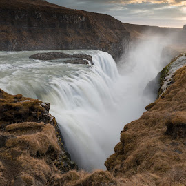 Gullfoss by null - Landscapes Waterscapes ( iceland, gullfoss )