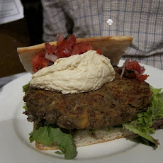 Lentil Burgers with Yogurt Mint Sauce