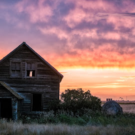 by Kaye Mendoza - Buildings & Architecture Decaying & Abandoned ( farm, fuji x, alberta, canada, prairie, abandoned )
