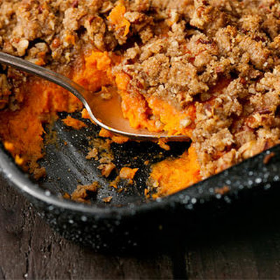 Mashed Sweet Potato Casserole with Bourbon