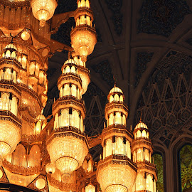 The Grand Chandelier by Dhanika Ranasinghe - Buildings & Architecture Other Interior ( chandelier, mosque, oman, architectural detail, architecture )