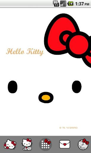 【免費個人化App】Hello Kitty Red Bow Theme-APP點子