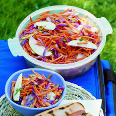 Carrot, Cabbage, and Apple Slaw with Cumin Lime Dressing