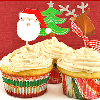 Vanilla Bean Cupcakes with Chai Spiced Frosting