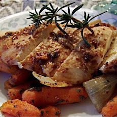 Honey Mustard Chicken With Roast Vegetables  Ww Aust. 5.5 Pnts