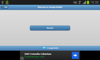 Screenshot of Omegle Mobile