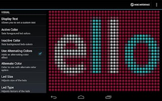 Screenshot of LED Text Scroller
