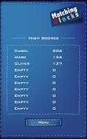 Screenshot of Matching Blocks