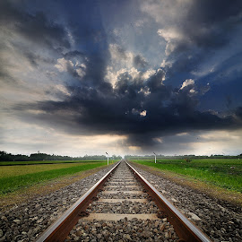 ril# by Indra Prihantoro - Transportation Railway Tracks ( railroad tracks, railway, railroad )