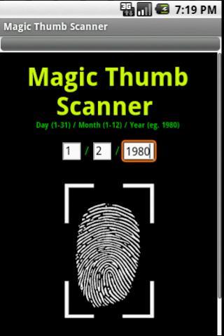 Magic Thumb Scanner