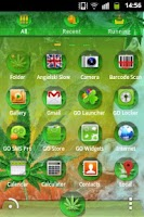 Screenshot of GO Launcher Ganja Weed Theme