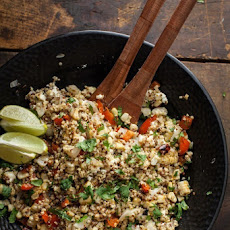 Three-Grain Vegetable and Feta Salad