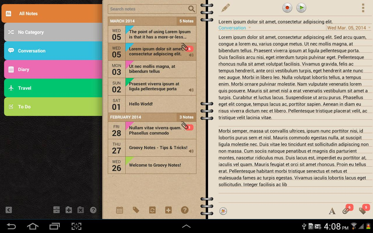 Groovy Notes - Personal Diary Screenshot 9