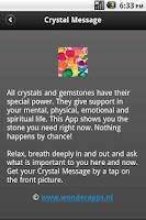 Screenshot of Crystal Message LT