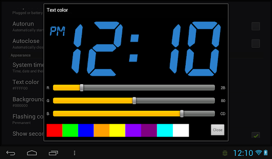 how to change clock on android tablet