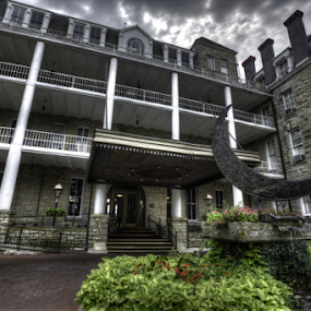 HDR does Americas Most Haunted Hotel by Cody Miller - Buildings & Architecture Office Buildings & Hotels ( crescent hotel, 1886, cody j miller, haunted, hotel, eureka springs, divinofoto, arkansas, decay )